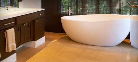 Ask you bathroom remodeler for specifics like this eggshell type tub.