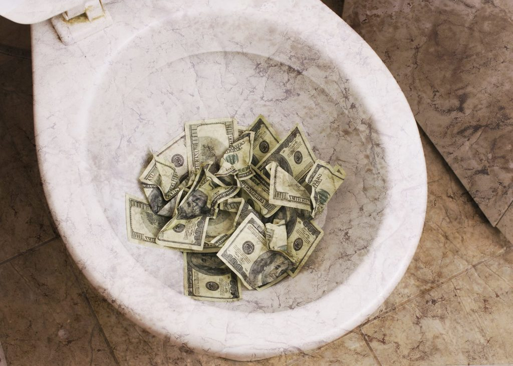 Don't throw hundreds down the toilet (like picture) and instead learn how to save on plumbing with Kellermeier.