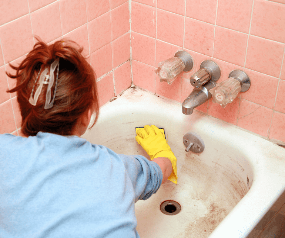 You need to clean a dirty bathtub often.
