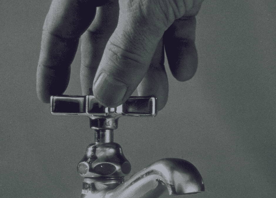 You don't need a plumber for a stiff faucet handle.